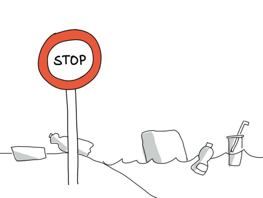 Sketchnote Szenario Müll vermeiden