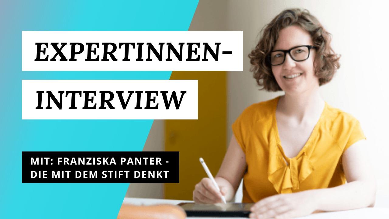 Expertinnen-Interview Sketchnotes Franziska Panter