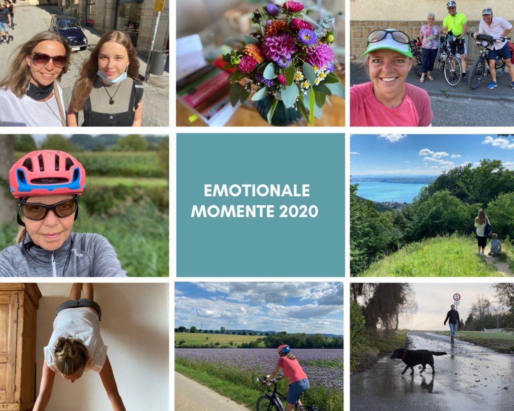 Jahresrückblick 2020: collage emotionale momente