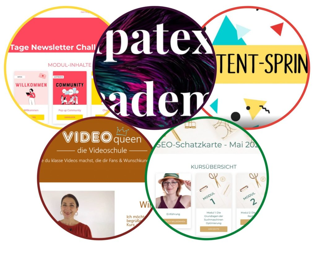 Jahresrückblick 2020: Auswahl Online-Kurse logos