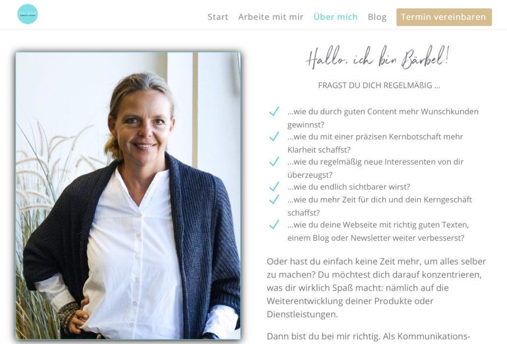 Screenshot Über-mich-Seite