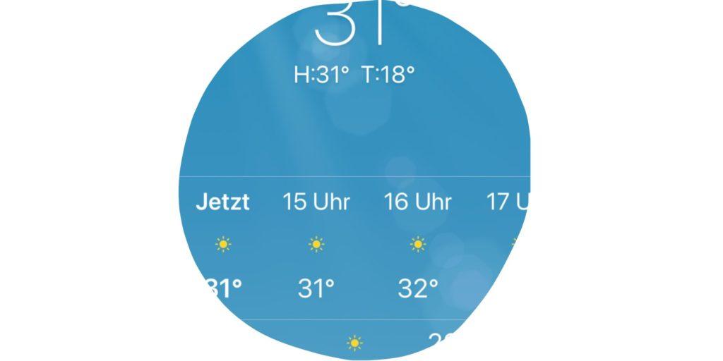 Wettervorhersage-grafik